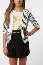 Aria's striped blazer at Urban Outfitters