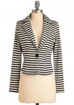 Striped blazer like Arias at Modcloth