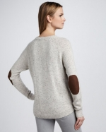 Lily's elbow patch sweater at Neiman Marcus