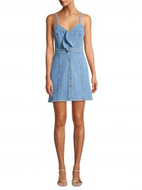 7 For All Mankind - Double Bow Tie-Front Denim Dress at Saks Fifth Avenue