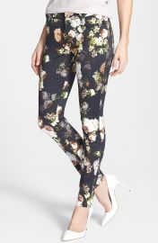 7 For All Mankind    The Skinny  Floral Pattern Jeans  Nighttime Floral at Nordstrom
