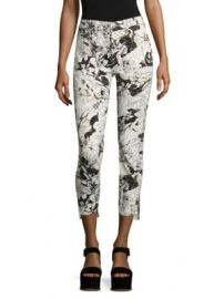 7 For All Mankind - Floral-Print Step Hem Ankle Skinny Jeans at Saks Fifth Avenue
