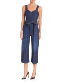 7 For All Mankind - Saint Tropez Belted Jumpsuit at Saks Off 5th
