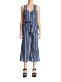 7 For All Mankind - Striped Denim Jumpsuit at Saks Fifth Avenue