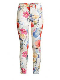 7 For All Mankind - The Ankle Skinny Floral Print Jeans at Saks Fifth Avenue