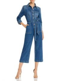 7 For All Mankind Alexa Cropped Denim Jumpsuit Women - Bloomingdale s at Bloomingdales