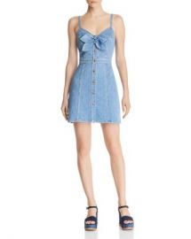 7 For All Mankind Bow-Detail Denim Dress Women - Bloomingdale s at Bloomingdales