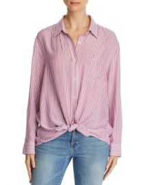 7 For All Mankind Striped High Low Shirt Women - Bloomingdale s at Bloomingdales