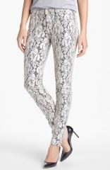 7 For All Mankind The Skinny Lace Overlay Pants at Nordstrom