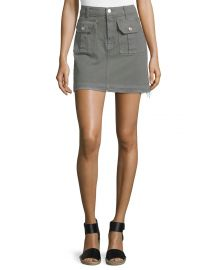 7 For All Mankind Utility Pocket Mini Skirt  Moss at Neiman Marcus