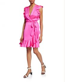 7 for all mankind Sleeveless Ruffle Wrap Dress at Neiman Marcus