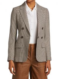 70s Houndstooth Wool-Blend Blazer at Saks Fifth Avenue