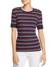 70s Striped Rib-Knit Tee at Bloomingdales