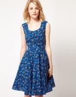 Blue floral dress at Asos