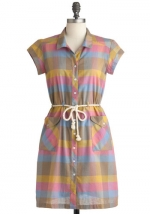 Plaid dress like Bernadettes at Modcloth