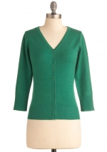 Green cardigan like Annies at Modcloth
