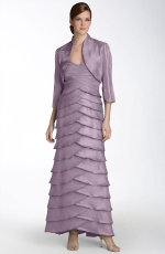 Amy's purple bridesmaid dress at Nordstrom