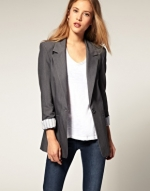 Grey boyfriend blazer like Pennys at Asos