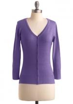 Purple cardigan like Bernadettes at Modcloth