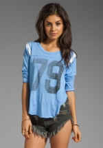 79 Jersey in blue at Revolve