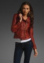 Maroon leather jacket like on Big Bang Theory at Revolve