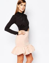 8th Sign  The 8th Sign 2 In 1 Dress With Wrap Front Top With Peplum Skirt at Asos
