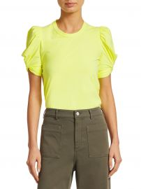 A L C  - Kati Puff-Sleeve Tee at Saks Fifth Avenue