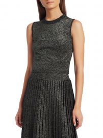 A L C  - Mariam Lurex Cropped Top at Saks Fifth Avenue