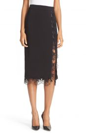 A L C  Holland Floral Trim Skirt at Nordstrom