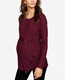 A Pea in the Pod Maternity Tie-Front Top at Macys