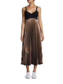 A L C  - Alba Metallic Pleated Midi Dress at Saks Fifth Avenue