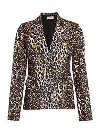 A L C  - Alton Leopard Print Double-Breasted Blazer at Saks Fifth Avenue