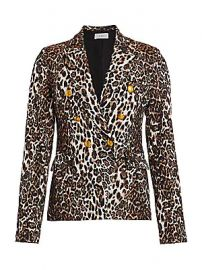 A L C  - Alton Leopard Print Double-Breasted Blazer at Saks Fifth Avenue