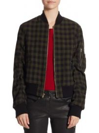 A L C  - Andrew Gingham Wool Bomber Jacket at Saks Off 5th