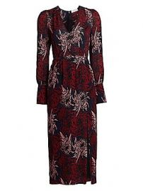 A L C  - Bailey Floral Silk Midi Dress at Saks Fifth Avenue