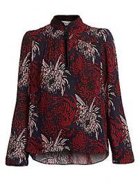 A L C  - Beatrix Floral Silk Blouse at Saks Fifth Avenue
