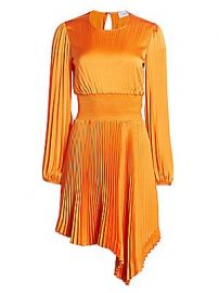 A L C  - Behati Vintage Satin Gabriela Pleated Dress at Saks Fifth Avenue