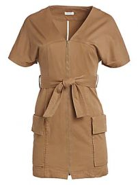 A L C  - Bellamy Belted Stretch Cotton Dress at Saks Fifth Avenue