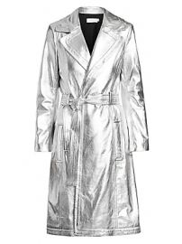 A L C  - Bennet Metallic Leather Trench Coat at Saks Fifth Avenue