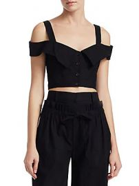 A L C  - Blake Cold Shoulder Crop Top at Saks Off 5th