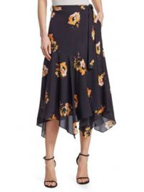 A L C  - Borden Floral Silk Midi Skirt at Saks Fifth Avenue