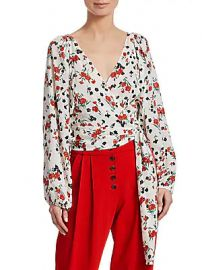 A L C  - Carla Floral Wrap Top at Saks Off 5th
