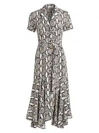 A L C  - Clarkson Python Print Shirtdress at Saks Fifth Avenue