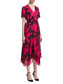 A L C  - Cora V-Neck Wrap Dress at Saks Fifth Avenue