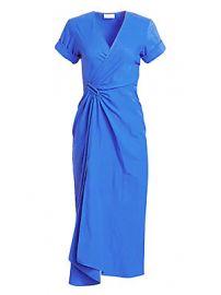 A L C  - Edie Linen-Blend Wrap Midi Dress at Saks Fifth Avenue