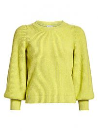 A L C  - Eliana Puff-Sleeve Wool  amp  Cashmere-Blend Knit Sweater at Saks Fifth Avenue