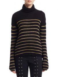 A L C  - Elisa Metallic Stripe Turtleneck Sweater at Saks Fifth Avenue