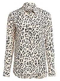 A L C  - Emerson Leopard Print Silk Blouse at Saks Fifth Avenue