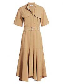 A L C  - Emma Safari Midi Dress at Saks Fifth Avenue