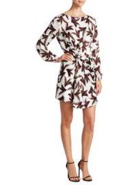 A L C  - Freja Silk Palm Dress at Saks Fifth Avenue